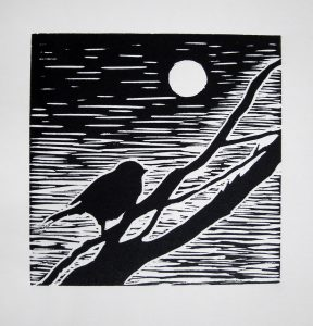Lino cut by Naomi Creek