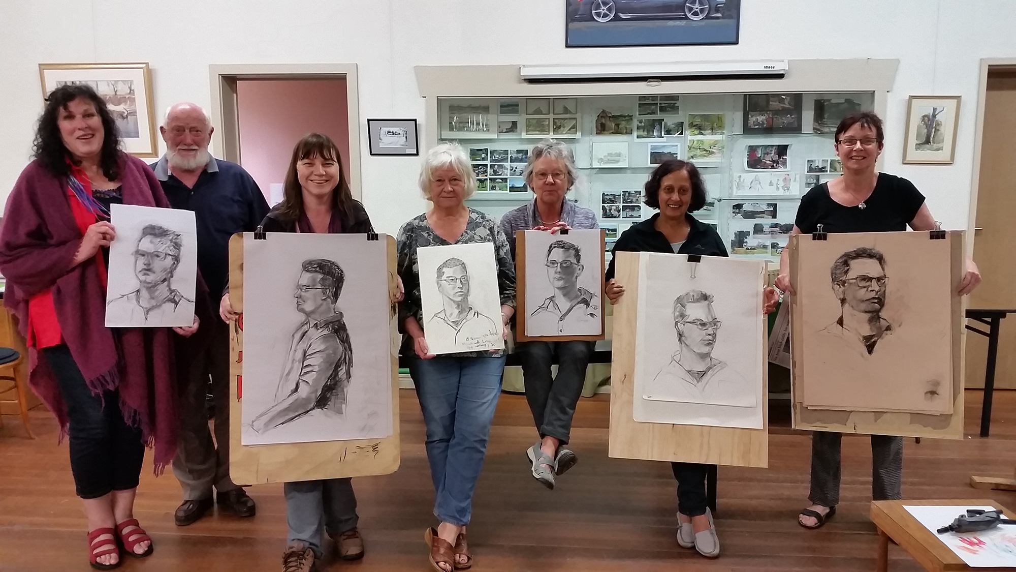Life Class participants at Emerald Arts Society