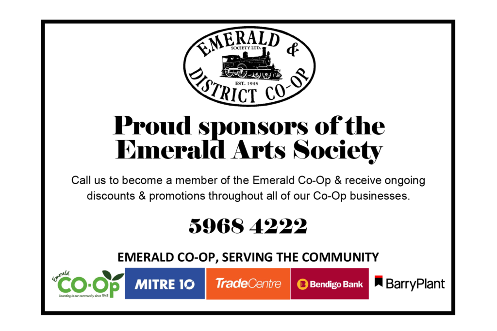 Emerald & District Co-Op — Proud sponsors of the Emerald Arts Society