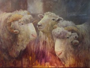 Sheep artwork by Lois Bannister
