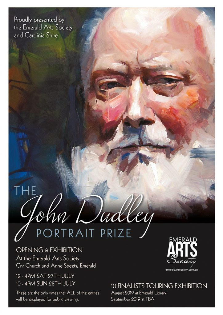 The John Dudley Portrait Prize Exhibition Flyer with dates