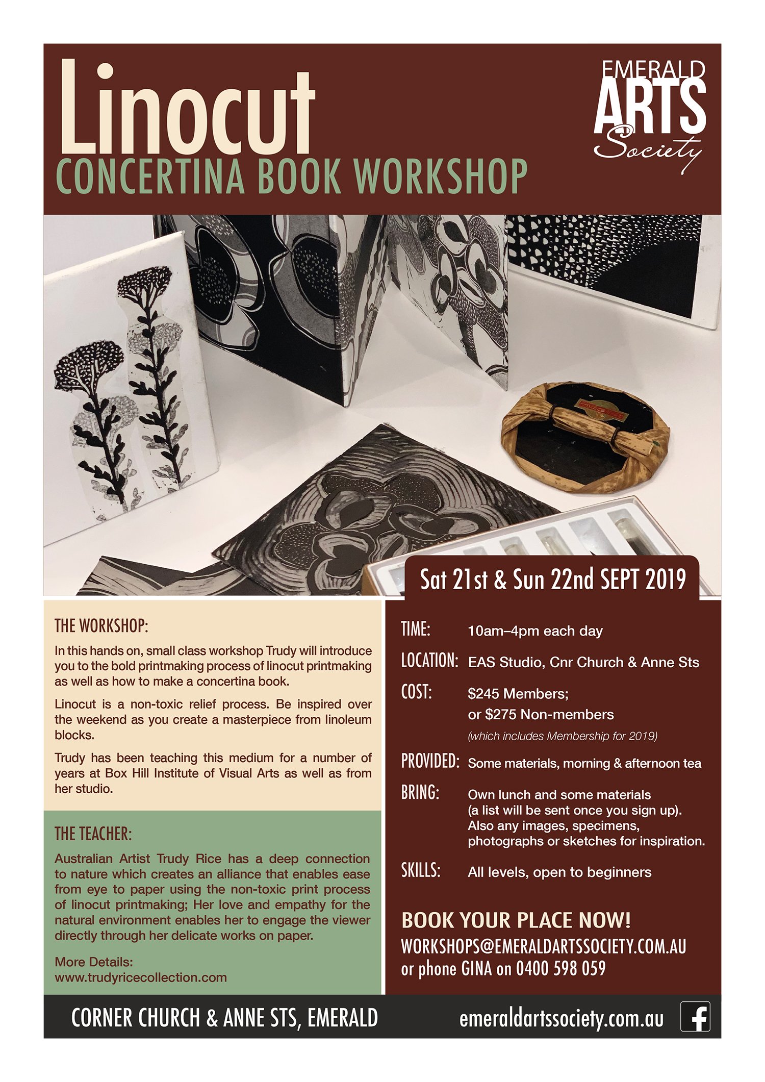 Linocut: Concertina Book Workshop