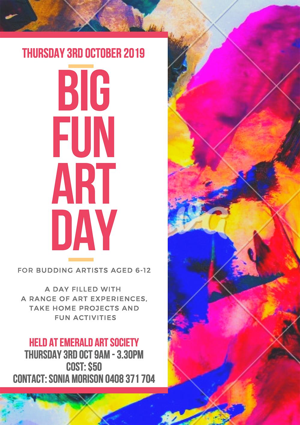 Kids Workshop — Big Fun Art Day