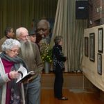 Barbara and Keith Thomas viewing the exhibition