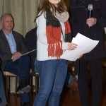 Bindi Schroder receiving her award from Lee Machelak
