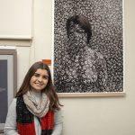 Bindi Schroder with her artwork 'Camouflage'