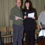 Paul Gallant receiving his award from Lee Machelak