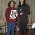 Ramak Bamzar receiving her award from Lee Machelak