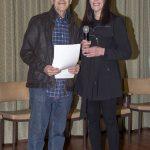 Rodney Edelsten receiving his award from judge Lee Machelak