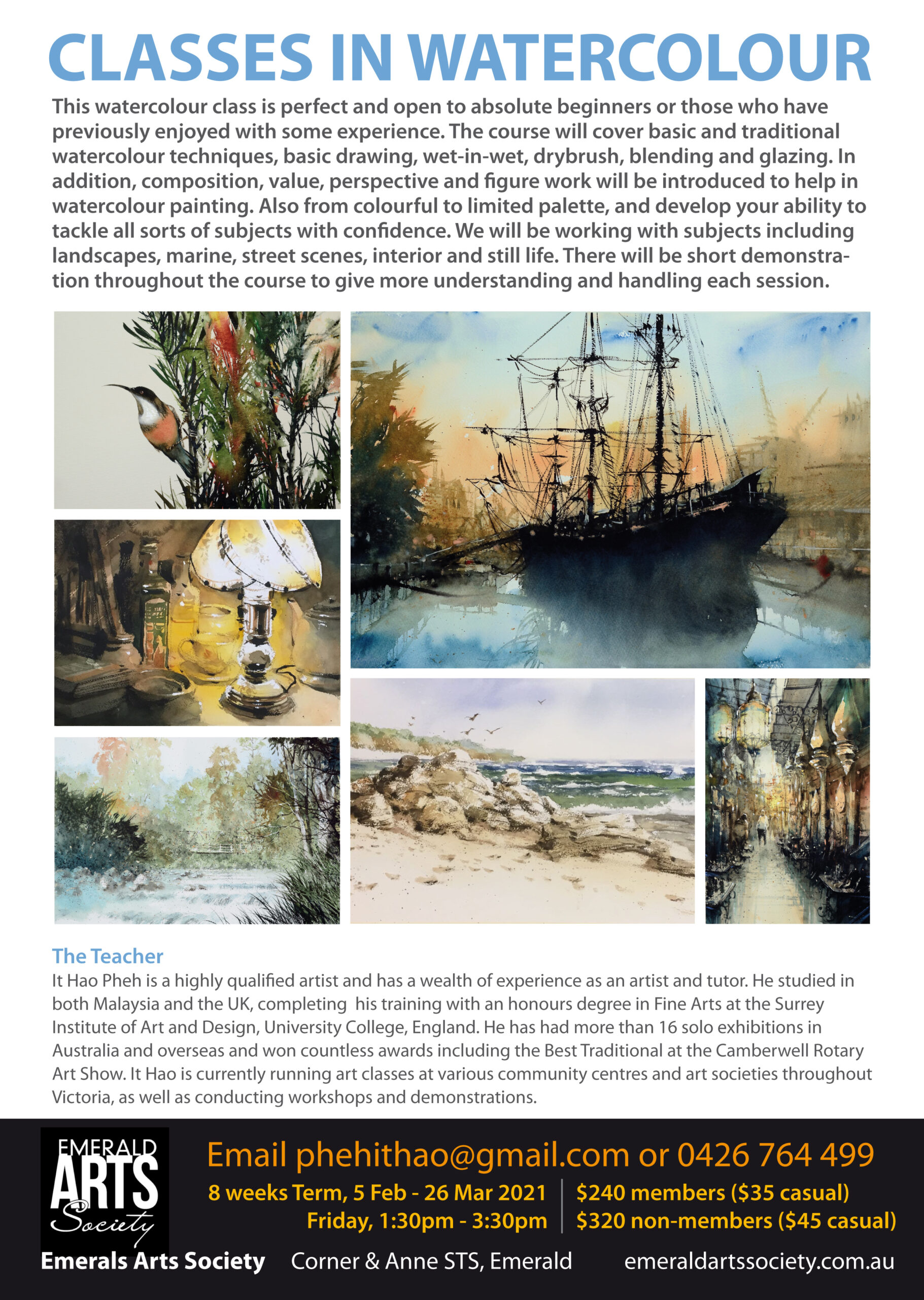 Read more about the article Classes in Watercolour 2021